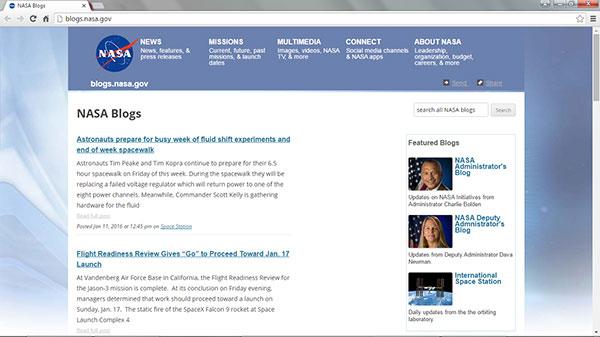 وبلاگ ناسا شرکت طراحی سایت با وردپرس